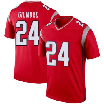 Youth Nike New England Patriots Stephon Gilmore Red Inverted Jersey - Legend