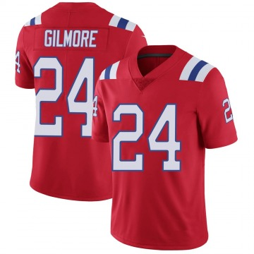 Youth Nike New England Patriots Stephon Gilmore Red Vapor Untouchable Alternate Jersey - Limited