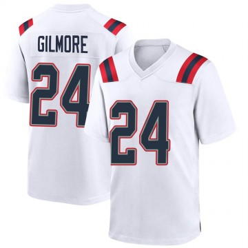 Youth Nike New England Patriots Stephon Gilmore White Jersey - Game