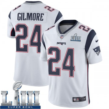 Youth Nike New England Patriots Stephon Gilmore White Super Bowl LIII Vapor Untouchable Jersey - Limited