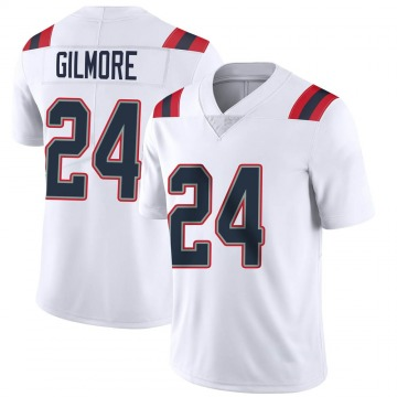 Youth Nike New England Patriots Stephon Gilmore White Vapor Untouchable Jersey - Limited