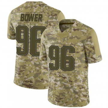 Youth Nike New England Patriots Tashawn Bower Camo 2018 Salute to Service Jersey - Limited