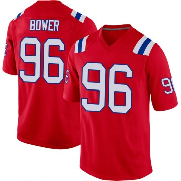 Youth Nike New England Patriots Tashawn Bower Red Alternate Jersey - Game