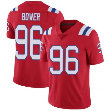 Youth Nike New England Patriots Tashawn Bower Red Vapor Untouchable Alternate Jersey - Limited