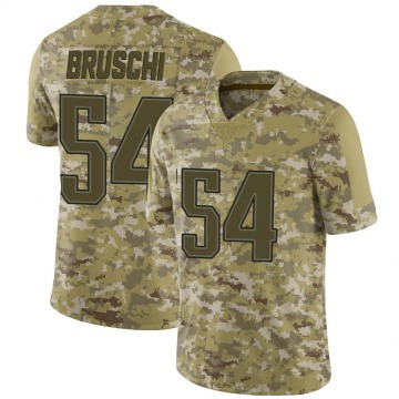 Youth Nike New England Patriots Tedy Bruschi Camo 2018 Salute to Service Jersey - Limited