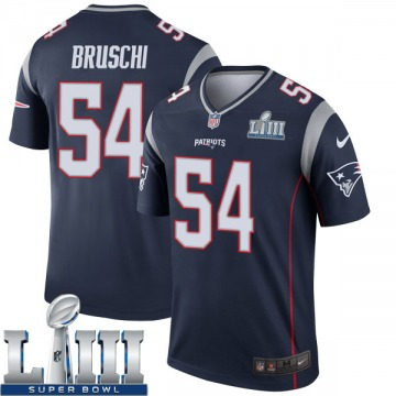 Youth Nike New England Patriots Tedy Bruschi Navy Super Bowl LIII Jersey - Legend
