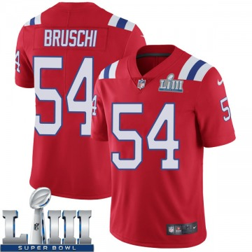 Youth Nike New England Patriots Tedy Bruschi Red Super Bowl LIII Vapor Untouchable Alternate Jersey - Limited