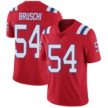 Youth Nike New England Patriots Tedy Bruschi Red Vapor Untouchable Alternate Jersey - Limited