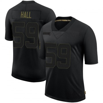 Youth Nike New England Patriots Terez Hall Black 2020 Salute To Service Jersey - Limited