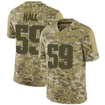 Youth Nike New England Patriots Terez Hall Camo 2018 Salute to Service Jersey - Limited