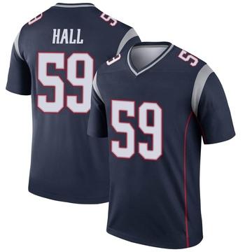 Youth Nike New England Patriots Terez Hall Navy Jersey - Legend
