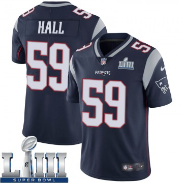 Youth Nike New England Patriots Terez Hall Navy Team Color Super Bowl LIII Vapor Untouchable Jersey - Limited