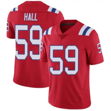 Youth Nike New England Patriots Terez Hall Red Vapor Untouchable Alternate Jersey - Limited