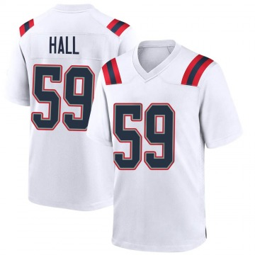 Youth Nike New England Patriots Terez Hall White Jersey - Game
