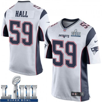 Youth Nike New England Patriots Terez Hall White Super Bowl LIII Jersey - Game