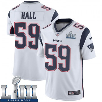 Youth Nike New England Patriots Terez Hall White Super Bowl LIII Vapor Untouchable Jersey - Limited
