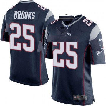 Youth Nike New England Patriots Terrence Brooks Navy Blue Team Color Jersey - Game