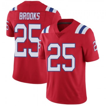 Youth Nike New England Patriots Terrence Brooks Red Vapor Untouchable Alternate Jersey - Limited