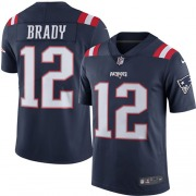 sports shoes ebe87 0e84e Youth Nike New England Patriots Tom Brady Navy Blue Color Rush Jersey -  Limited