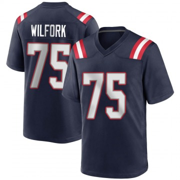 Youth Nike New England Patriots Vince Wilfork Navy Blue Team Color Jersey - Game