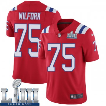 Youth Nike New England Patriots Vince Wilfork Red Super Bowl LIII Vapor Untouchable Alternate Jersey - Limited