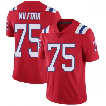 Youth Nike New England Patriots Vince Wilfork Red Vapor Untouchable Alternate Jersey - Limited