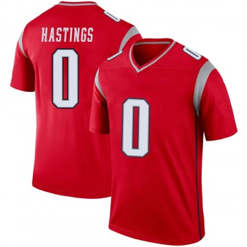 Youth Nike New England Patriots Will Hastings Red Inverted Jersey - Legend